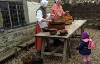 This working Tudor Farm is a nice introduction to Shakespeare for younger children. The farm, where Shakespeare's mother was raised, recreates the sights and sounds, (and smells!) of a Tudor farm. Children get an overview of life in earlier times before hand held video games display animals in multi-colored cartoon versions.