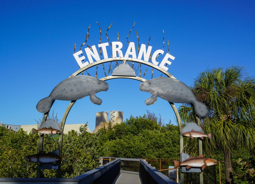 Entrance to the Manatee Viewing Center in Florida