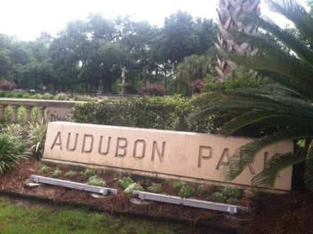 Audubon Park is a streetcar ride away; great place for kids to run around. Credit: Judy Antell / Vegetarian TravelingMom