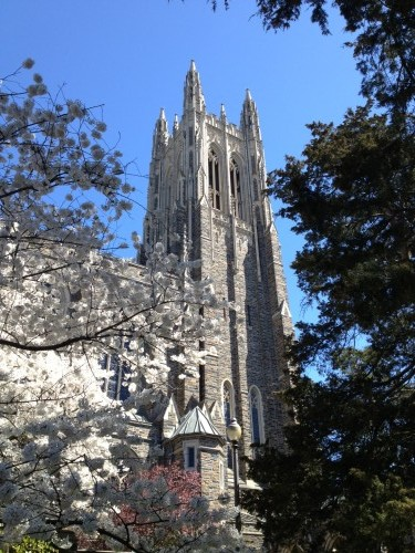 Near The King's Daughters' Inn in Durham, North Carolina is the beautiful Duke University