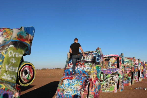 The United States, including Cadillac Ranch in Texas, is among the 10 best vacation spots in the world.