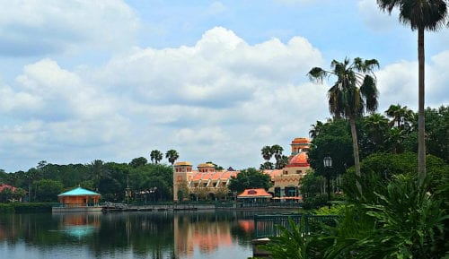 Jog, walk, or explore the scenic path that winds around the lake at Disney's Coronado Resort. Photo Diana Rowe / Traveling Grandmom