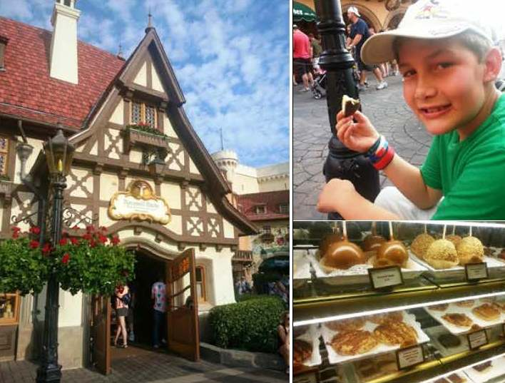 Chocolate covered apples in Germany were fantastic! Photo credit: Gwen Kleist, Healthy TravelingMom.