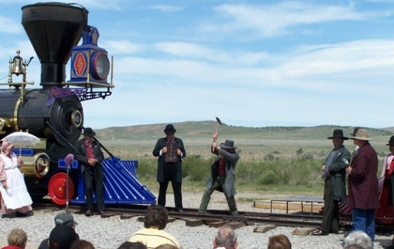 Golden Spike Monument in Northern Utah photo credit Carissa Rogers