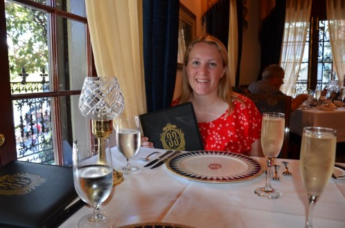 Leslie Harvey dining at Club 33 at Disneyland. (Photo courtesy of Frequent Flyer TMOM, Leslie Harvey.