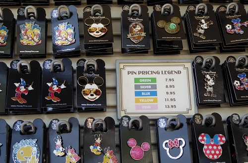 Pin trading at Walt Disney World