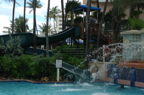 Pool and Waterslide Marriott San Juan