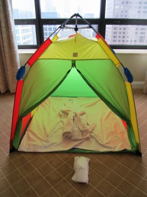 Stay at the kid-friendly Ritz Carlton near Water Tower Place and get a tent set up in your room.