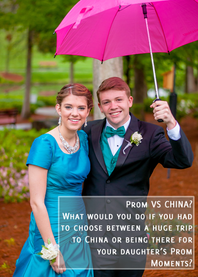 What would you do if you had to choose between a trip to CHINA or being their for your child's Prom?