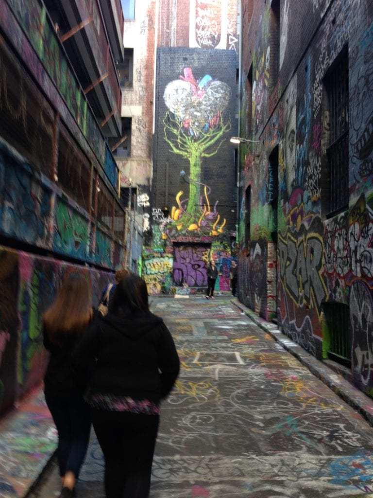 Street art in Australia, one of the best vacation spots in the world.