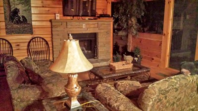 Dollywood Cabins living room