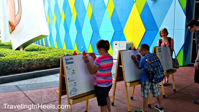 Learn to draw for free at Art of Animation at Walt Disney World - TravelingMom