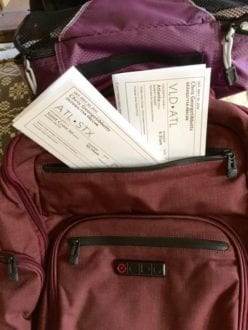 For the times paper boarding passes required, reach easily with this specific backpack pocket.