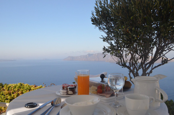 Breakfast for One in Greece, Photo by Dana Zucker, Triathlon TravelingMom