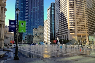 Dilworth Park fountain. (Photo Philadelphia Traveling Mom Sarah Ricks)
