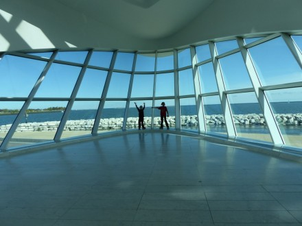 Photo by Jamie Bartosch/Suburban TravelingMom The Milwaukee Art Museum has a scenic lakefront entry area.