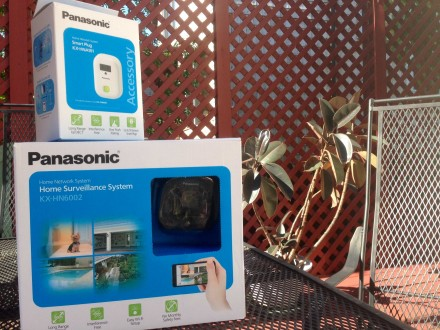 Panasonic's Home Surveillance System is one way to keep an eye on your home while traveling. (Photo courtesy of Megy Karydes, Foodie TravelingMom.)
