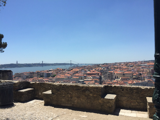 Portugal: The view from the top of the Castelo de Sao Jorge, Lisbon, Photo by Kaamna Bhojwani-Dhawan, International TravelingMom