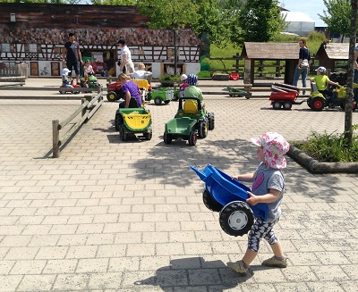 Pre-schoolers loved simply riding tractors