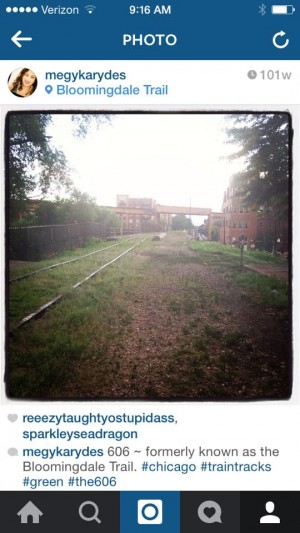 This Instagram shot from Megy Karydes shows what the abandoned train track looked like before it was redeveloped into The 606.