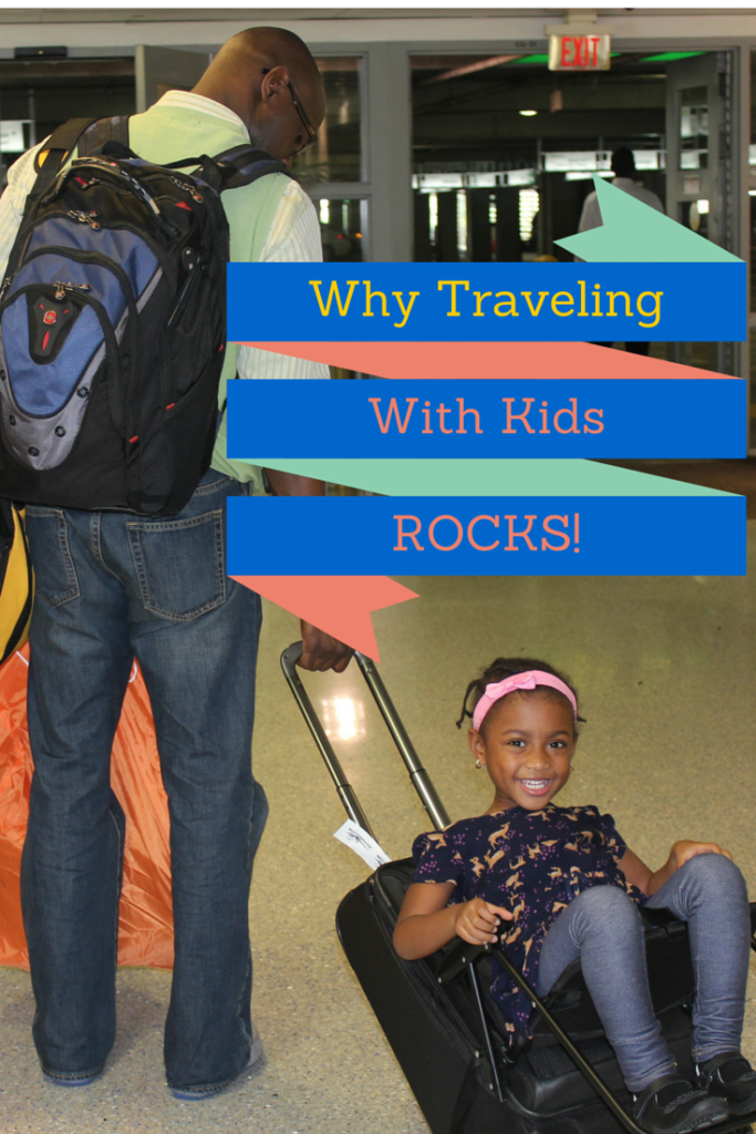 Traveling with kids pin