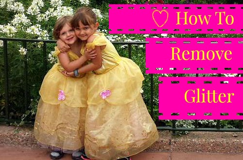 Disney Princess Dresses & Glitter: How to Get it Off of Your Body, Clothes, and Strollers