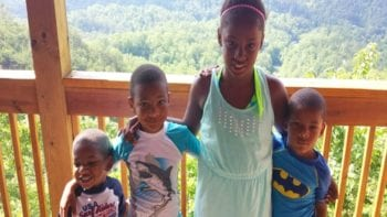 Smith family at Dollywood Cabins