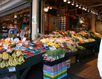 Fresh produce on display at Pike Place Market. Photo Credit: Julie Bigboy/DayTrip Traveling Mom