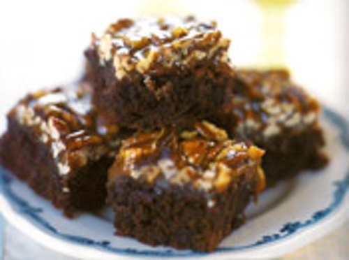 Turtle Brownies:  A Truly Decadent Dessert