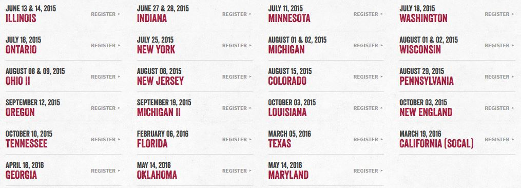 warrior dash race dates 2015
