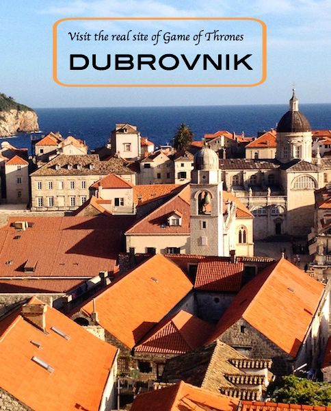 Dubrovnik glowing in afternoon light, seen from the wall (Photo Philadelphia Traveling Mom Sarah Ricks)