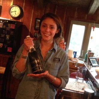 Third generation wIne maker Paloma helps customers with wine tastings at Hopkins Vineyard in New Preston, Connecticut. Photo: Scotty Reiss