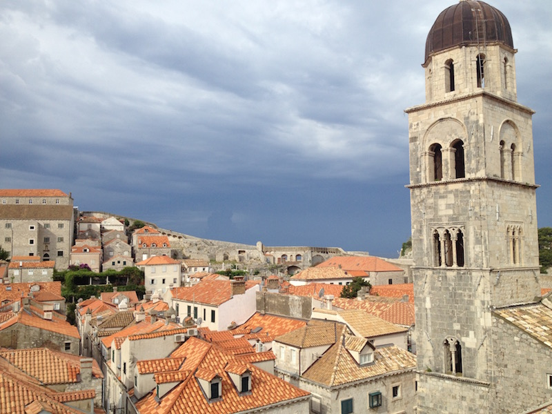 Dubrovnik from the roof terrace of Boutique Hotel Stari Grad (Photo Philadelphia Traveling Mom Sarah Ricks)