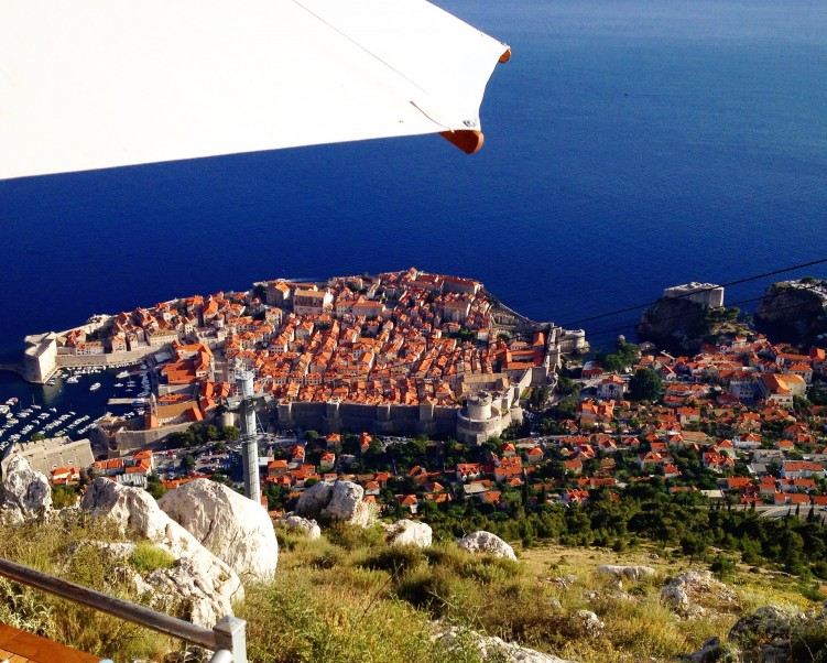 Dubrovnik from the cafe reached by cable car (Photo Philadelphia Traveling Mom)