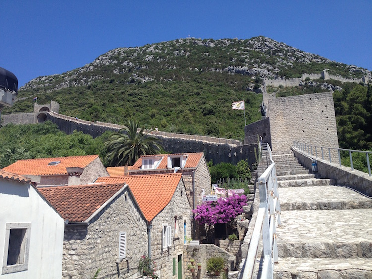Climb the wall surrounding Ston, Croatia, for views and work up an appetite (Photo Philadelphia Traveling Mom Sarah Ricks)