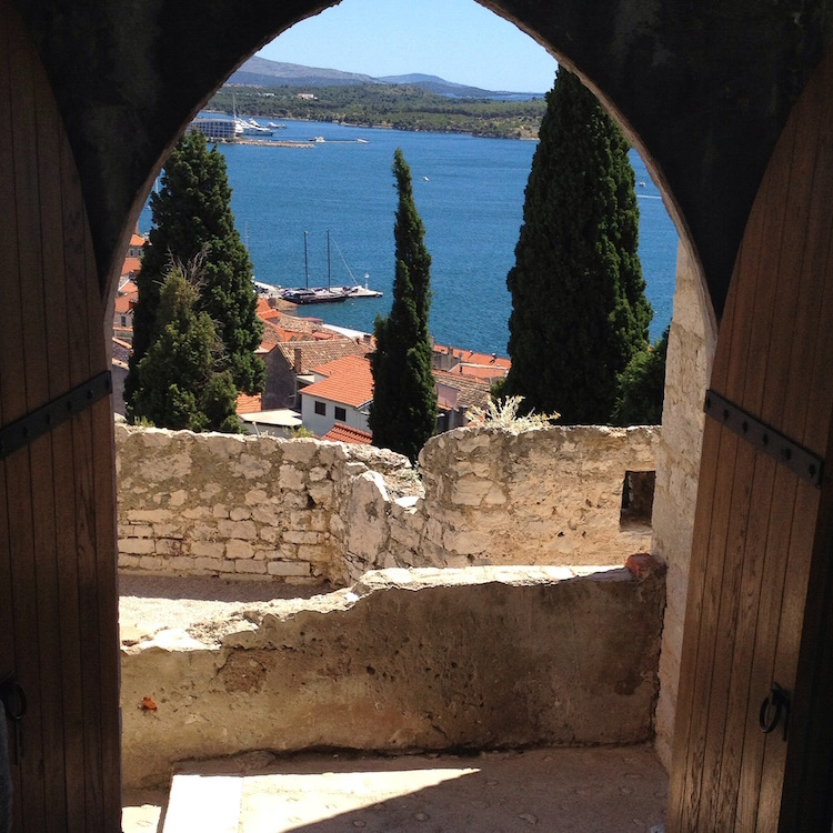 View from the fortress at the top of Sibenik, Croatia (Photo Philadelphia Traveling Mom Sarah Ricks)