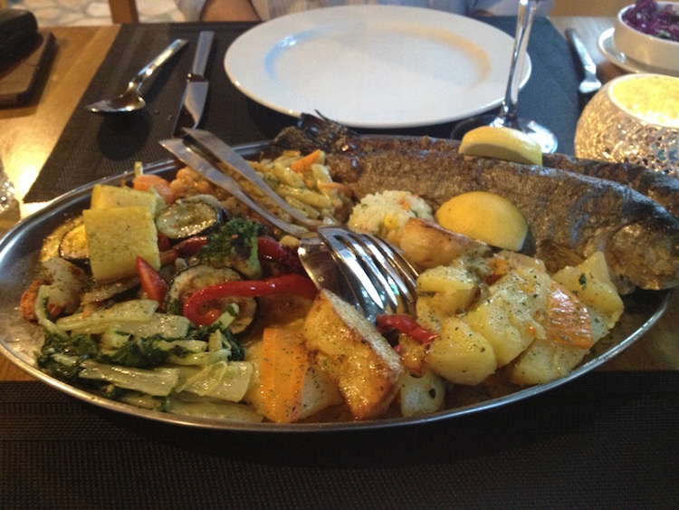 Fresh trout is a specialty at Plitvice Miric Inn (Photo Philadelphia Traveling Mom Sarah Ricks)