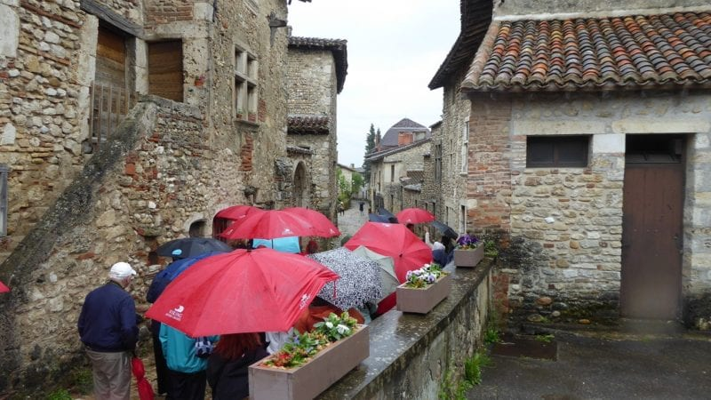 Another rainy day in France during a Viking River Cruise.