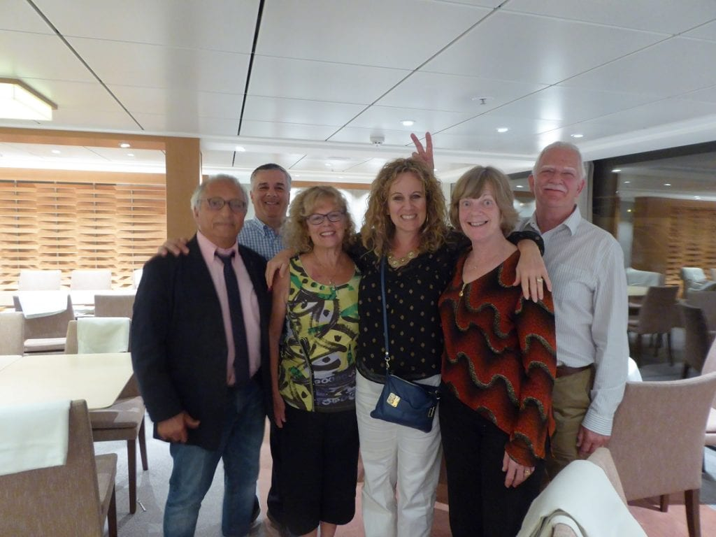 Making friends onboard a Viking River Cruise.