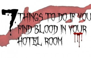 blood in hotel room