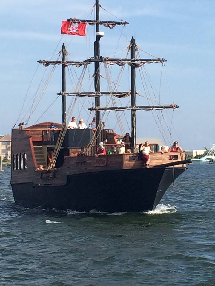 check out the penscaola pirate ship with your family when you're in the area