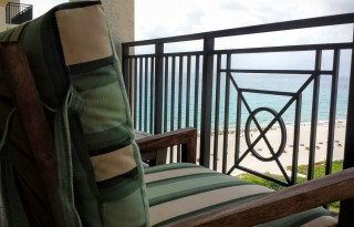 The balconies at the Palm Beach Marriott are perfect for relaxing, day or night.