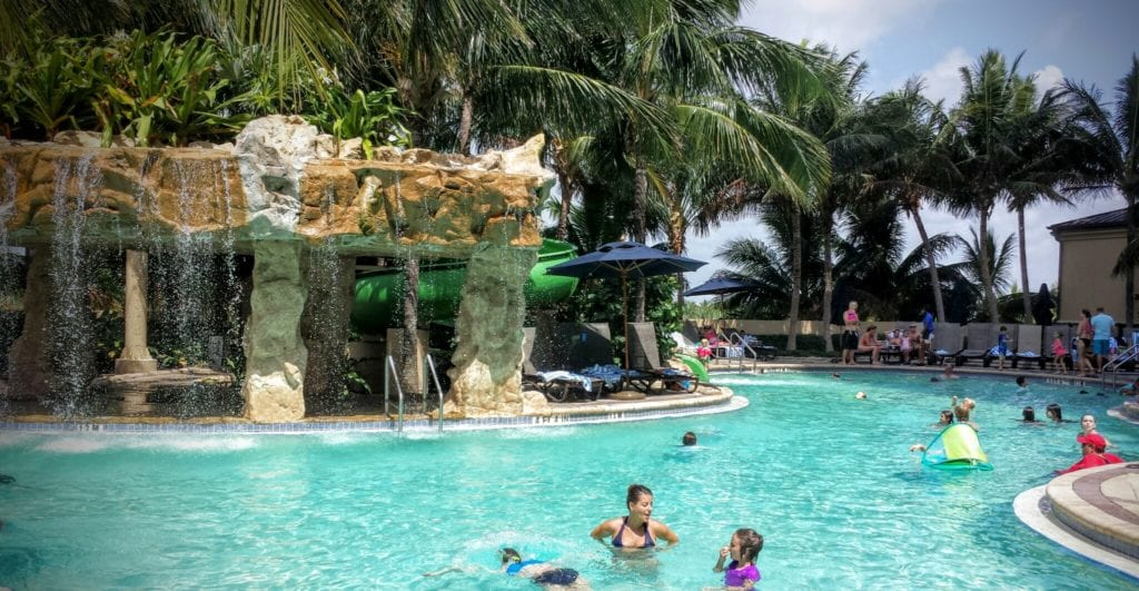 The lagoon pool and water slide can keep the family occupied and happy all day!