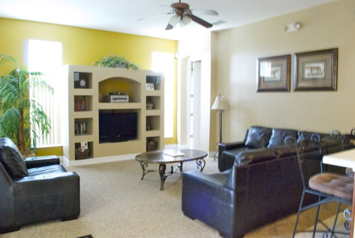Well appointed family room for gathering together. Photo Credit - Heidi LaDuca