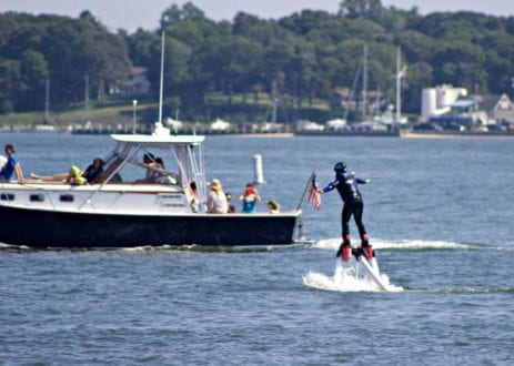 Ironwoman Fran Capo makes it up on the flyboard!