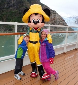 Meet Mickey onboard a Disney Alaskan cruise. Photo by Heather McLaughlin