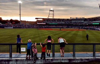 Nashville Sounds Game, View from the berm. Photo by Samantha Nelson Photography