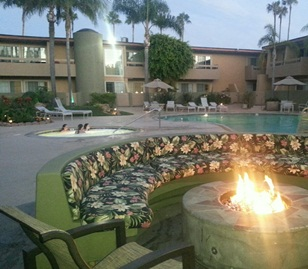 An evening by the fire is a great way to cap off a fun day. Photo credit: Gwen Kleist, Healthy TravelingMom.