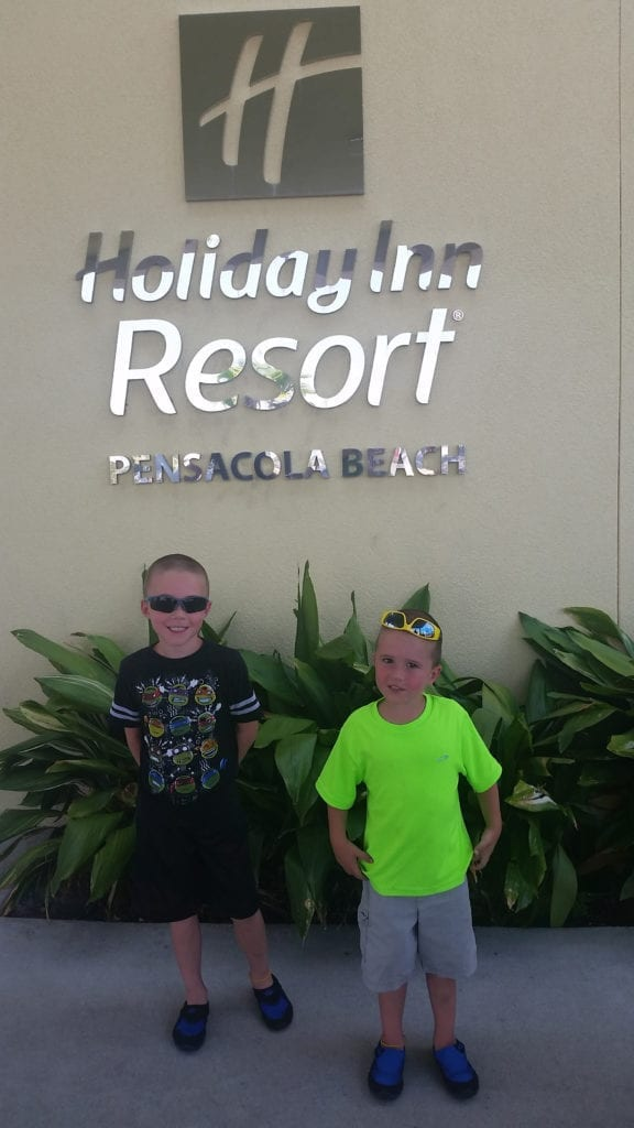 A family's stay at the Holiday Inn Resort in Pensacola