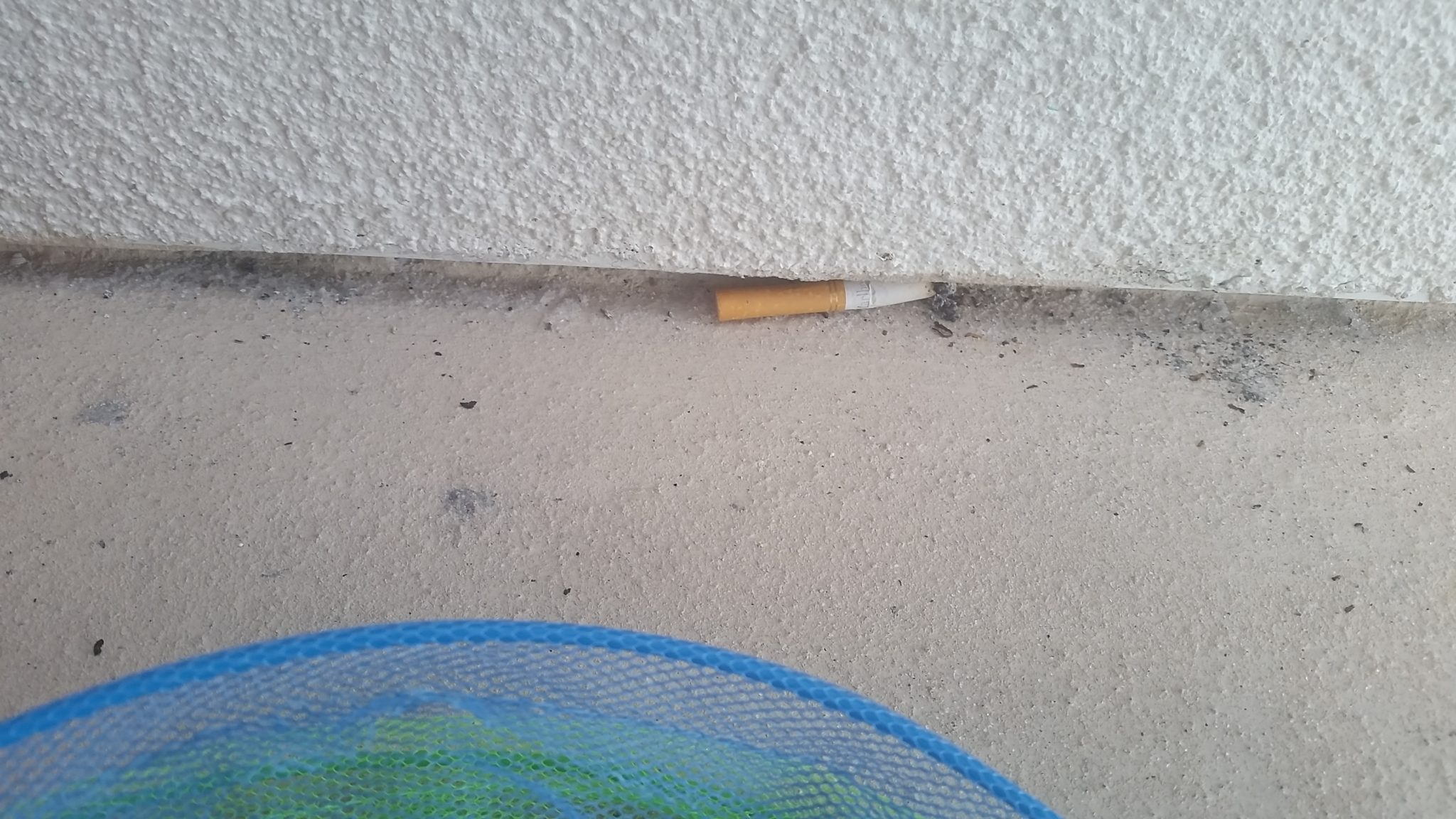 A leftover cigarette was not a welcome site at the Holiday Inn resort in Pensacola Beach